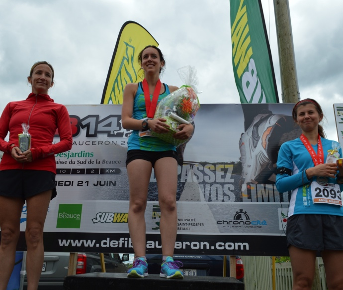 Demi-marathon du Défi Beauceron - Podium féminin