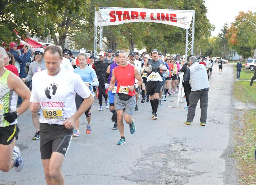 The County Marathon - départ