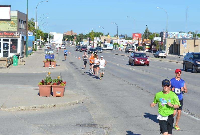 Marathon du Manitoba 2015 - kilomètre 20 environ.