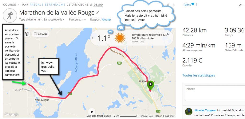 42k de la Vallée de la Rouge 2016 - Garmin Connect